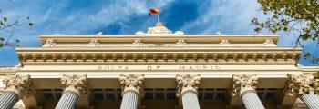 Facade of Madrid Stock Exchange building